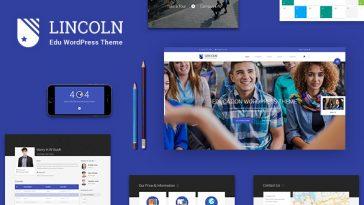 Download Lincoln - Education Material Design WordPress Theme Free
