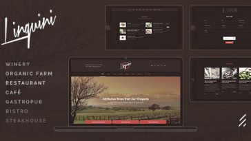 Download Linguini v.1.2 - Restaurant WordPress Theme Free