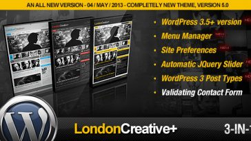 Download London - Creative + (Portfolio & Blog WP Theme) Free