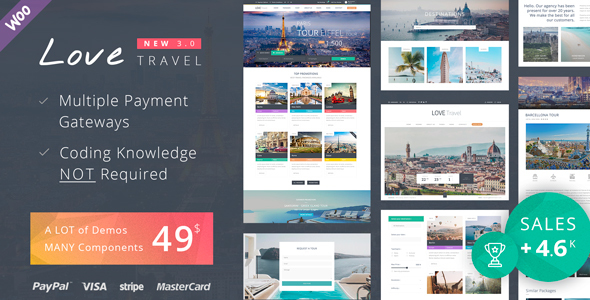 Download Love Travel - Creative Travel Agency WordPress Free