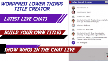 Download Lower Thirds Title Creator w/ YouTube Live Integration  - Free Wordpress Plugin