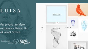 Download LUISA - Minimalist Portfolio & Blogging WP Theme Free