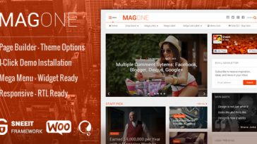 Download MagOne - ­ Responsive Magazine & News WordPress Theme Free