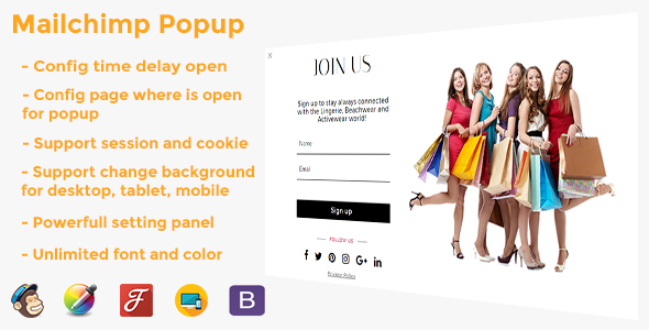 Download Mailchimp Popup   - Free Wordpress Plugin