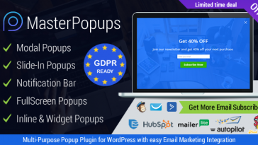 Download Master Popups WordPress Popup Plugin for Email Subscription - Free Wordpress Plugin