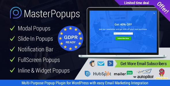 Download Master Popups WordPress Popup Plugin for Email Subscription - Free Wordpress Plugin