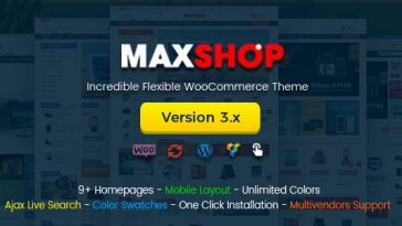 Download Maxshop v.3.3.1 - Multi-Purpose Responsive WooCommerce Theme (Mobile Layouts Included) Free