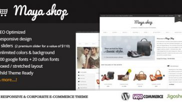 Download MayaShop - A Flexible Responsive e-Commerce Theme Free