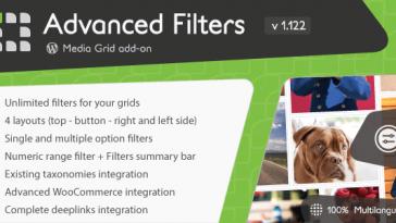 Download Media Grid Advanced Filters add-on - Free Wordpress Plugin