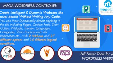 Download Mega WordPress Controller Create Intelligent & Dynamic Websites - Free Wordpress Plugin