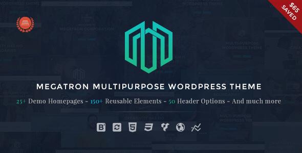 Download Megatron - Responsive MultiPurpose WordPress Theme Free