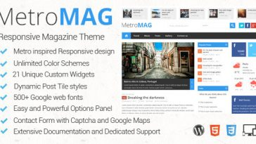 Download Metro Magazine - Responsive WordPress Theme Free