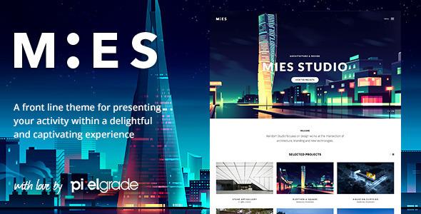 Download MIES - An Avant-Garde Architecture WordPress Theme Free