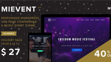 Download MiEvent - Responsive Event & Music WordPress Theme Free