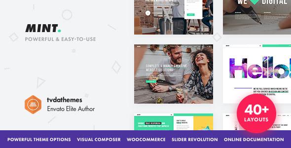 Download Mint v.3.1.2 - Creative Multi-Purpose WordPress Theme Free
