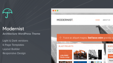 Download Modernist v.4.8 - Architecture&Engineer Wordpress Theme Free