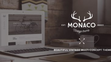 Download Monaco v.5.4.8 - Vintage Multi-Concept WordPress Theme Free