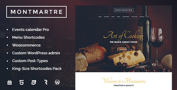 Download Montmartre  - Cafe & Restaurant WordPress Theme Free