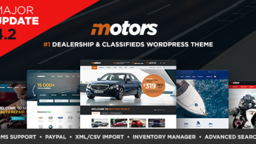 Download Motors - Automotive, Car Dealership, Car Rental, Auto, Classified Ads, Listing WordPress Theme Free
