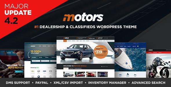 Download Motors - Automotive, Car Dealership, Car Rental, Auto, Classified Ads, Listing WordPress Theme Free