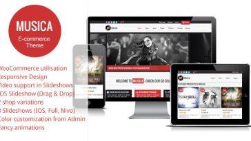 Download Musica - Responsive WordPress WooCommerce Theme Free