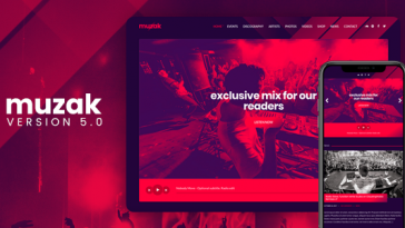 Download Muzak - Music WordPress theme Free