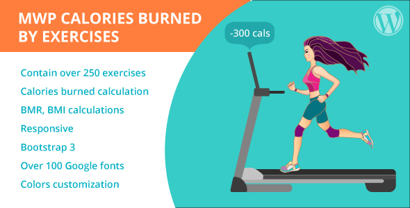 Download MWP Calories Burned By Exercises Calculator  - Free Wordpress Plugin