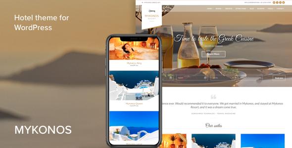 Download Mykonos Resort  - Hotel Theme For WordPress Free