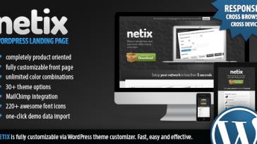 Download Netix - Responsive WordPress Landing Page Free