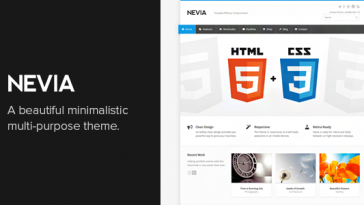Download Nevia v.1.5.1 - Responsive Multi-Purpose WordPress Theme Free