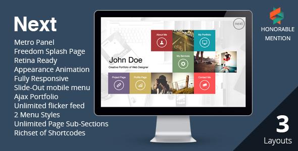 Download NEXT  - WordPress Unique & Easy Portfolio Free