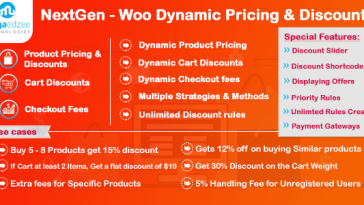 Download NextGen WooCommerce Dynamic Pricing and Discounts - Free Wordpress Plugin