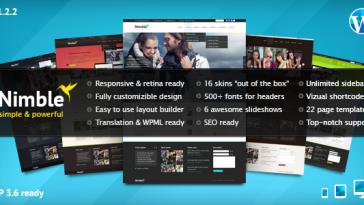Download Nimble - Multipurpose Retina Ready WordPress Theme Free