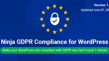 Download Ninja GDPR Compliance 2018 for WordPress  - Free Wordpress Plugin