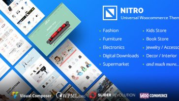 Download Nitro - Universal WooCommerce Theme from ecommerce experts Free