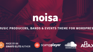 Download Noisa v.5.5.4 - Music Producers, Bands & Events Theme for WordPress Free