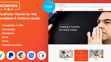 Download Nominee - Political WordPress Theme for Candidate/Political Leader Free