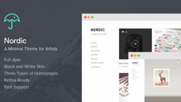Download Nordic - Retina Responsive WordPress Theme Free