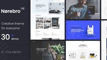 Download Norebro - Creative Portfolio Theme for Multipurpose Usage Free