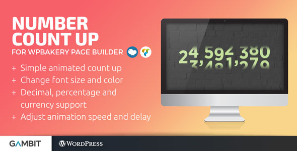 Download Number Count Up for WPBakery (formerly Visual Composer)   - Free Wordpress Plugin