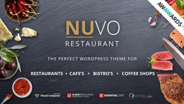 Download NUVO v.6.0.9 - Cafe & Restaurant WordPress Theme Free