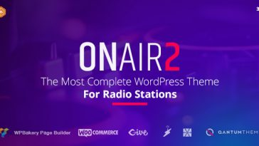 Download Onair2 v.5.5.4 - Radio Station WordPress Theme Free