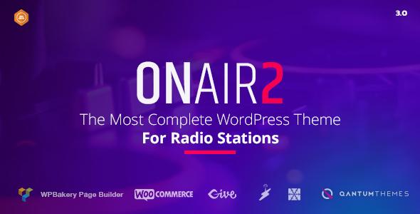 Download Onair2 v.5.5.4 - Radio Station WordPress Theme Free