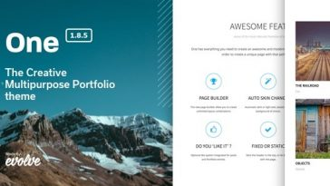 Download One - The Creative Multipurpose Portfolio theme Free