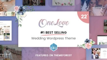 Download OneLove v.2.4 - The Elegant & Clean Multipurpose Wedding WordPress Theme Free