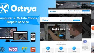 Download Ostrya v.1.1.9 - Computer Repair & Mobile Phone Repair Service WordPress Theme Free
