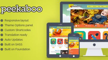 Download Peekaboo - Children WordPress Theme Free
