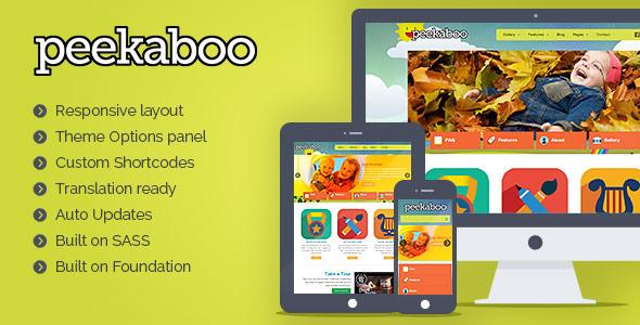 Download Peekaboo - Children WordPress Theme Free