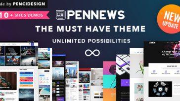 Download PenNews - News/ Magazine/ Business/ Portfolio/Reviews Landing AMP WordPress Theme Free