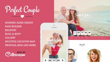 Download Perfect Couple v.1.9.1 - Wedding WordPress Theme Free
